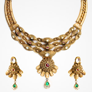 Antique necklace samarth jewellery antique gold necklaces for ring aloadofball Gallery