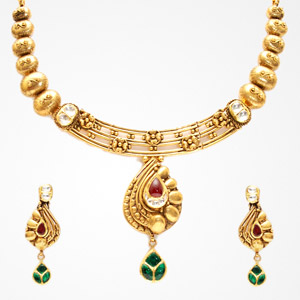 Antique necklace samarth jewellery antique gold necklaces for get quote aloadofball Gallery